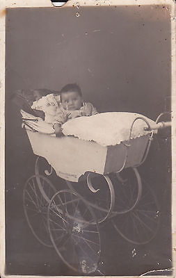 ANTIQUE 1913 PHOTO OF BABY Stroller CARRIAGES ROYALE SEQUARIS AMERICAN AUTOMATIC
