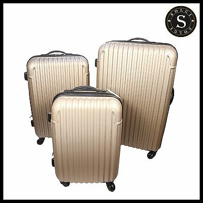 Quality Lightweight Silver Hard Shell Cabin Large ABS Luggage Suitcase