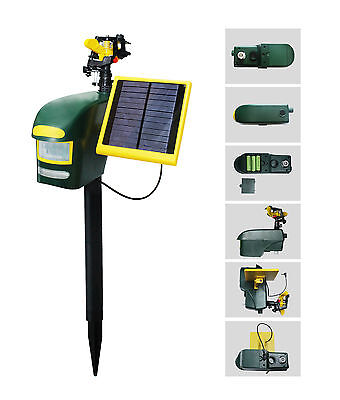 Humane Multifunctional Solar Powered Sprinkler Dog Cat Bird Animal Pest Repeller
