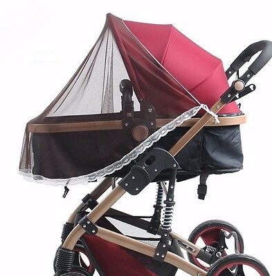 Universal Mosquito fly insect sun dust protect cover net mesh Pram Stroller J27