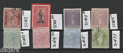 BC.32 - Virgin Island stamps, 1866 - 1899
