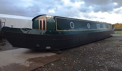 60' x 11' Widebeam Canal Boat -  Fully Painted