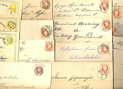 Slovenia - Lot Of Letters And Stationeries, Mostly With Content, Various Cancels