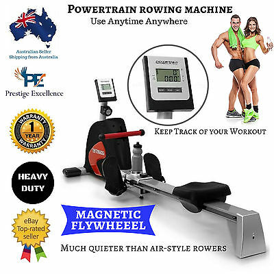 Magnetic Rowing Machine Flywheel Exercise Rower Home Gym Resistance Fitness New