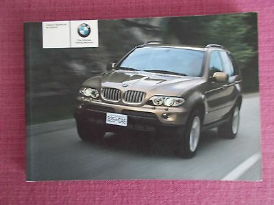 Bmw X5 (2003 - 2006) Owners Handbook - Owners Manual -  Owners Guide (Bm 679)