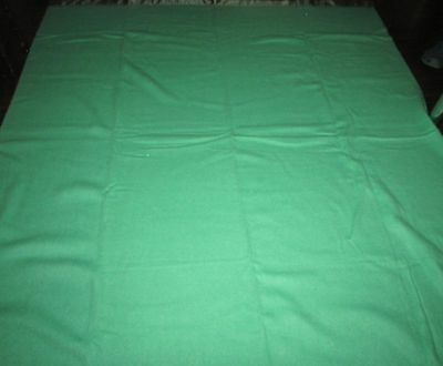 "Vtg Ayers Canada Emerald Gree100% Pure Wool Blanket  Made In Canada  76""x90"""