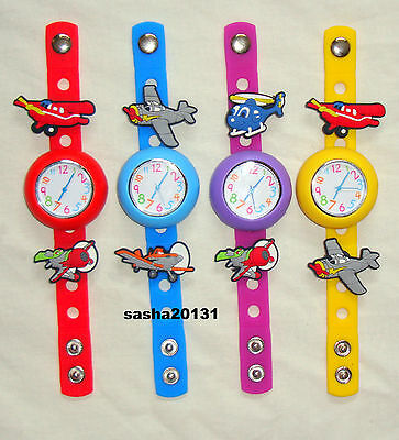 Planes  Jibbitz Band Watch  & A Set Of 5 Charms, Brand New