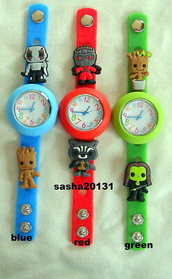Guardians Of The Galaxy  Jibbitz Band Watch  & A Set Of 6 Charms, Brand New