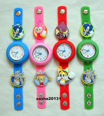 Sonic Jibbitz Band Watch  & A Set Of 6 Sonic Charms, Brand New