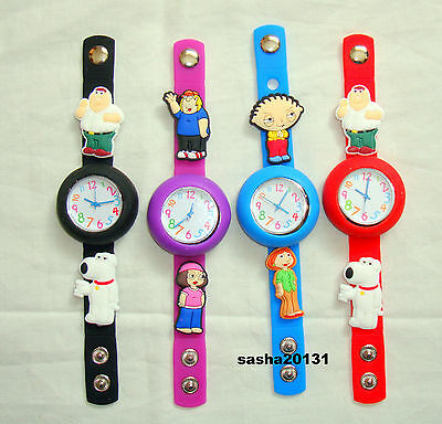 Family Guy  Jibbitz Band Watch  & A Set Of 6  Charms, Brand New