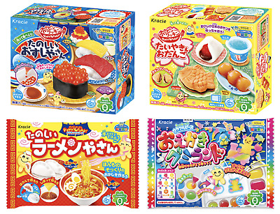 4 PIECE DIY JAPANESE CANDY SET Popin Cookin Kits Christmas Present Ramen Sushi