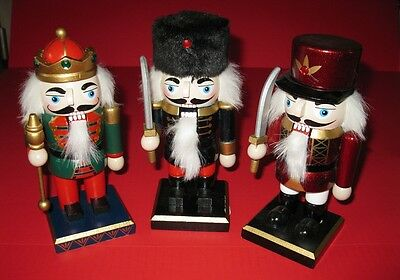 "Mini Nutcrackers 7.5"" tall 3 styles to choose from NWT"