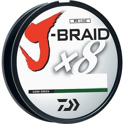 Daiwa J-BRAID 8 Braided 300 Line 330yd 300M Green/Multi/Char Choose Color/Size