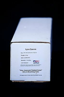 """Breathing Color Lyve Matte Poly Cotton Inkjet Canvas, 24""""x40', Roll #LC24401470"""