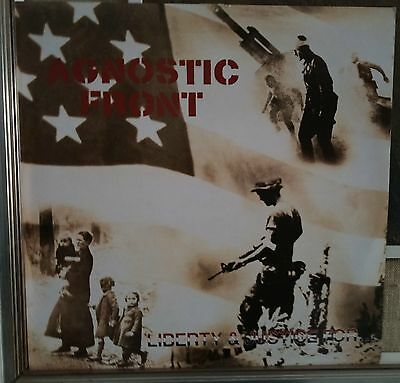 Agnostic Front Liberty & Justice For... Lp Uk Issue EX 1987 Rough Justice ‎– JUS
