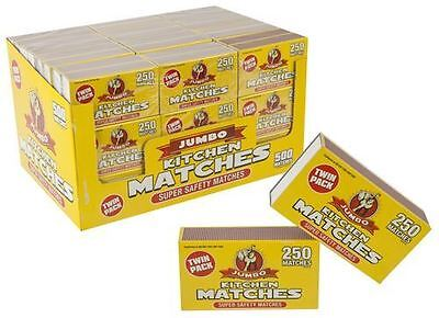 TWIN PACK of Jumbo Branded Safety KITCHEN MATCHES