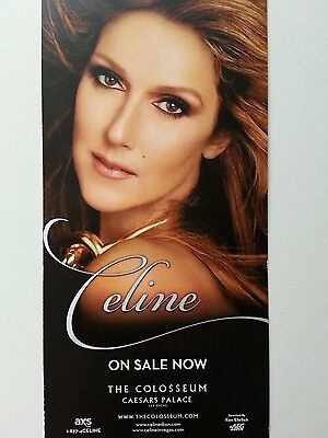 Celine Dion Colour Flyer Card The Colosseum At Caesars Palace Las Vegas 2015