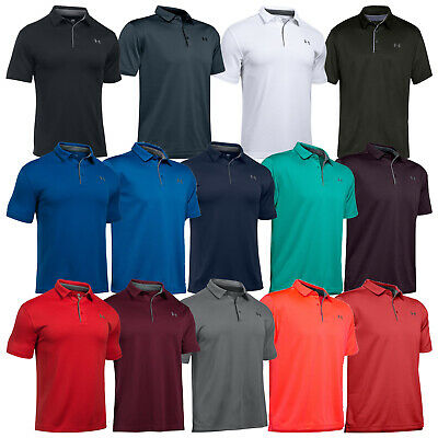 Under Armour Mens Heatgear Tech Golf Polo Shirt New UA Short Sleeve T-Shirt 2018