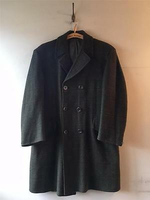 True Vintage Men's 1960s Meakers Guards Lambswool Over Coat 44 Large
