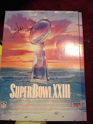 Super Bowl XXIII Game Program Signed By Ickey Woods COA Bengals