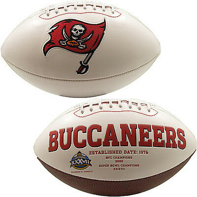 Tampa Bay Buccaneers Full Size NFL American Football Signature Series Ball