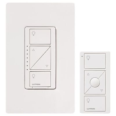 Lutron P-PKG1W-WH-C Caseta Wireless In-Wall Dimmer with Pico Remote Control Kit