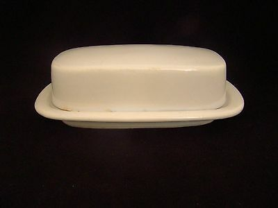 VINTAGE McCOY BUTTER DISH GLAZED White MCCOY 7013 USA POTTERY DISHES