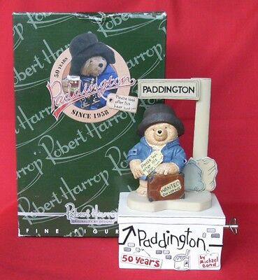 ROBERT HARROP MUSICAL BOX PADDINGTON BEAR PBMB1 50th ANNIVERSARY LIMITED EDITION
