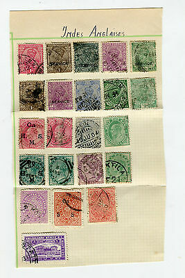 LOT Timbres INDE ANGLAISE
