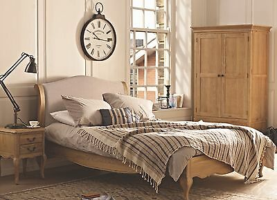 Lyon Oak Upholstered French Bed, Double~King~Superking (Hand Painted~Any Colour)