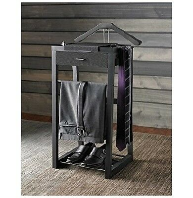 VALET STAND FOR Men With Drawer Suit Organizer Rack Cloth Hanger ...