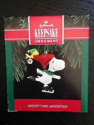 Hallmark 1992 Peanuts Snoopy And Woodstock