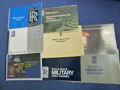 ROLLS-ROYCE, military aircraft engines, eight different brochures (RR set A)