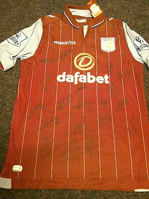 Signed Aston Villa Shirt. Brand New Adults L Signed by the NEW 2016/17 Squad.