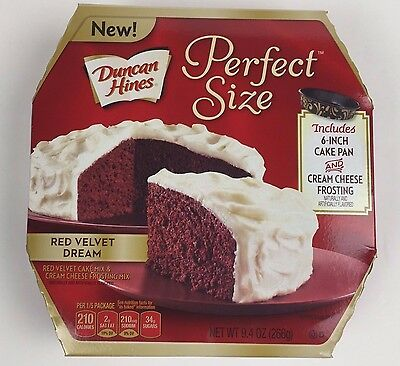 Duncan Hines Perfect Size Red Velvet Dream Cake & Cream Frosting Mix 9.4 oz