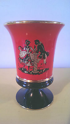 VINTAGE COURTING LOVERS PEDESTAL VASE - hand made C. Fiorentine, Italy