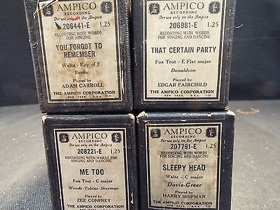 (4) Ampico Piano Rolls Sleepy Head/You Forget to Remember & 2 More Titles (#112)