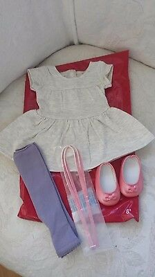 NEW American Girl T-shirt Tunic Outfit for Dolls  Leggings, Belt, Flats, 8+