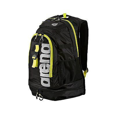 Arena Fastpack 2.1 Backpacks - Black/Fluo Yellow/Silver
