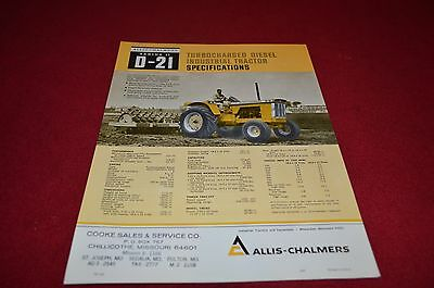 Allis Chalmers D-21 Series II Industrial Tractor Dealers Picture YABE11