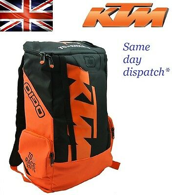 KTM Orange Off Road Motorcycle Motocros Riding Bike Bag Backpack Casual Rucksack