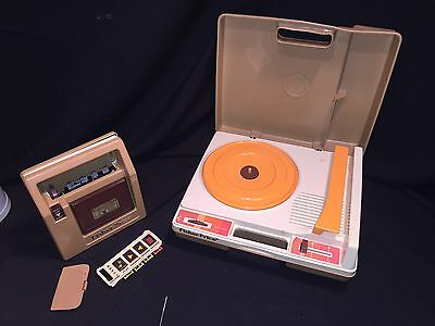 FISHER-PRICE 825 phonograph record player &  826 cassette tape deck - repair
