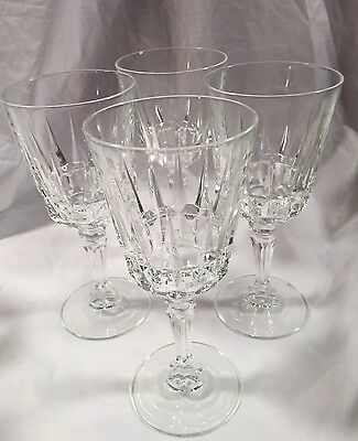 4 J. G. Durand Cristal D'Arques Crystal CHANTELLE or Lady Victoria Water Goblet