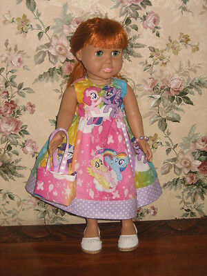 "Handmade ""My Little Pony""  Dress - American Girl Doll Clothes & 18 Inch Dolls"