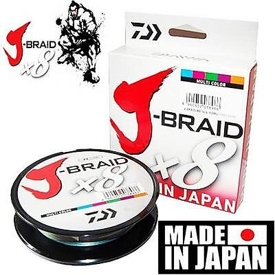 Daiwa J-BRAID Braided Line 550yd 550 yds 500 Meter MULTI-COLOR Choose Size