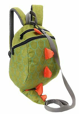Kids Toddler Dinosaur Backpack With Leash for Boy Girl Under 3 Years Green