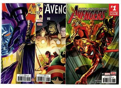 The Avengers #1-3 & 1.1-3.1 (2016) Marvel VF/NM to NM