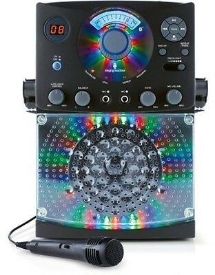 Singing Machine Bluetooth Karaoke System With LED Disco Lights And Microphone