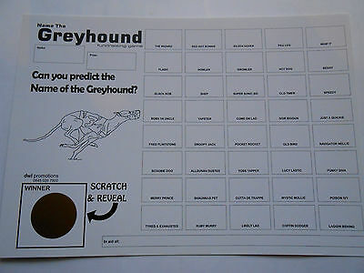 Greyhound Scratch Cards - 40 Spaces- Great Fundraiser - Set Of 5 Raise £100