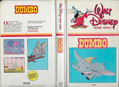 Extremely Rare 1st Disney Production Release 1982 VHS Dumbo w/ 2 Bonus Editions